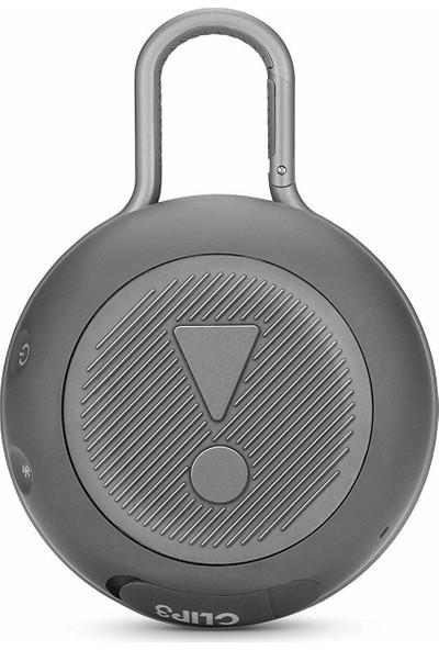 JBL Clip 3 IPX7 Su Geçirmez Taşınabilir Bluetooth Hoparlör Gri