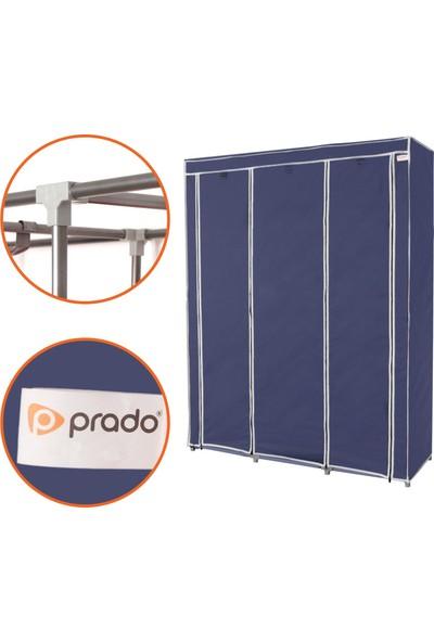 Prado Trend Çelik Profilli Bez Dolap - Lacivert