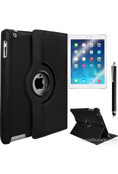 Exclusive Phone Case Exclusive Phone Case iPad Air Kılıf 360 Standlı Siyah+Film+Kalem