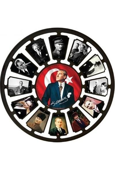 Galaxy Mustafa Kemal Atatürk Duvar Saati 50 Cm