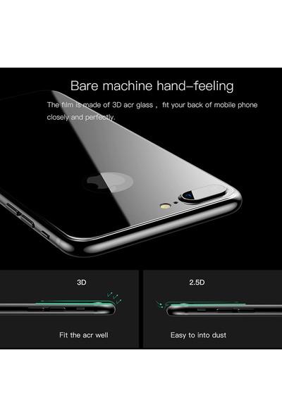 Lito 3D Full Cover iPhone 8 Cam Ekran Koruyucu Arka / Siyah LT05-IP8-A-S