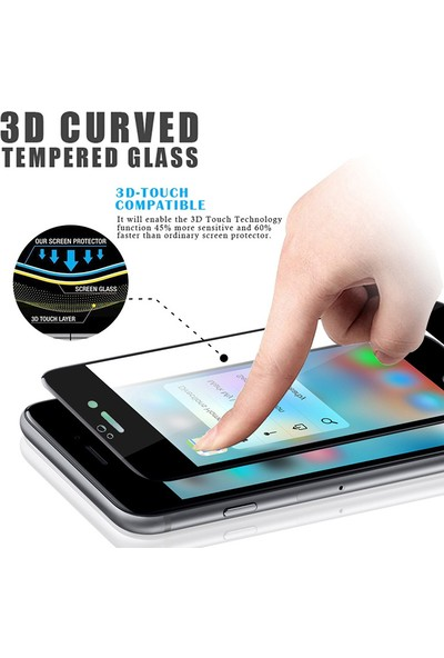 Lito Tempered Glass iPhone 6 / 6S Cam Ekran Koruyucu Beyaz LT03-IP6-B