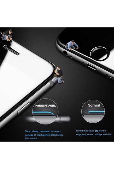 Lito Tempered Glass iPhone 7 / 8 Cam Ekran Koruyucu Beyaz LT03-IP7-B