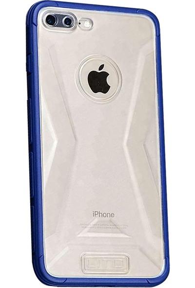 Lito Shockproof TPU Darbeye Dayanıklı iPhone 7 Plus Kılıf Mavi LT07-IP7P-KM