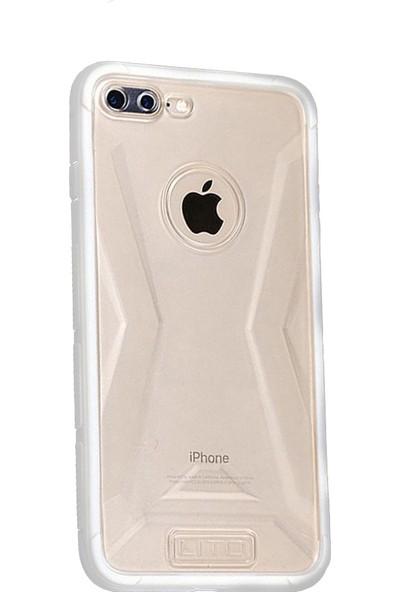 Lito Shockproof TPU Darbeye Dayanıklı iPhone 8 Kılıf Beyaz LT07-IP8-B
