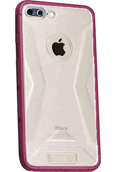 Lito Shockproof TPU Darbeye Dayanıklı iPhone 8 Plus Kılıf Rose LT07-IP8P-GK