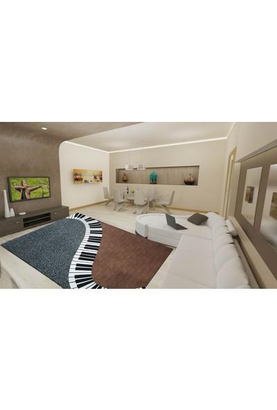 YenibiStil Piyano Lastikli Halı Örtüsü YGT5013 80x150