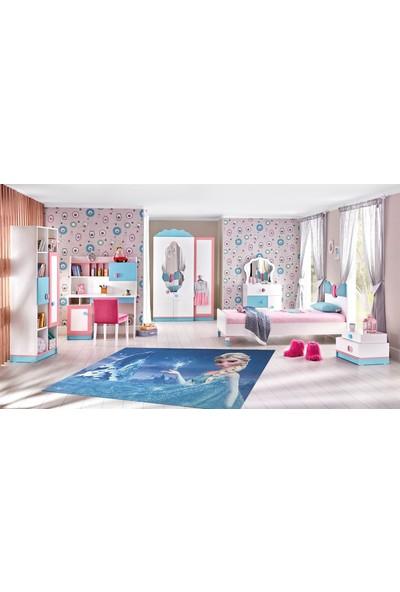 YenibiStil Buz Prensesi Lastikli Halı Örtüsü YGT5022 165x233