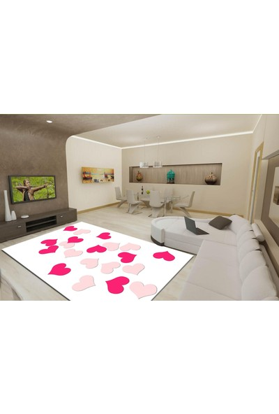 YenibiStil Miray Lastikli Halı Örtüsü YGT5053 120x200