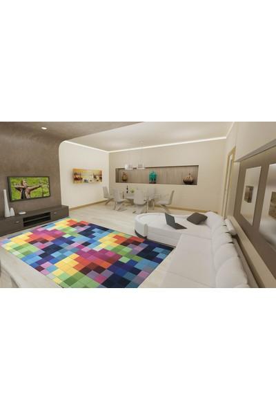 YenibiStil Tetris Lastikli Halı Örtüsü YGT5096 80x150