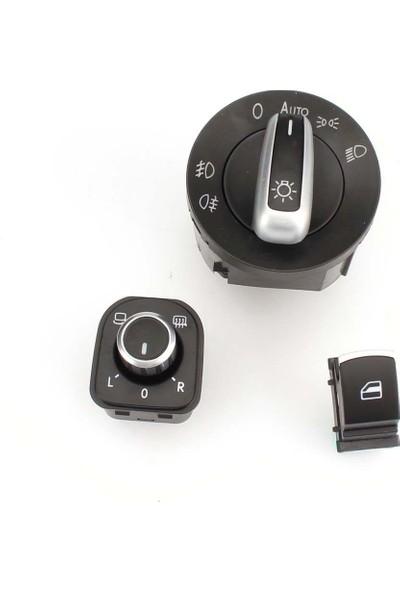 Wolcar Volkswagen Passat Kontrol Düğmeleri Kromlu 3 Lü Set
