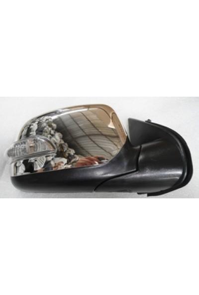 Ypc Isuzu D Max- Pick Up- 2007/2012 Kapı Aynası Sağ Elektrikli 3+2 Pinli Kısa Sinyallı Nikelaj Kapakli