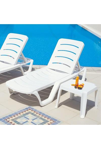 Siesta Bahama Şezlong - Beyaz