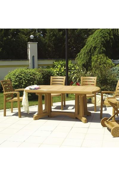 Siesta Marina 6 Kişilik Bahçe Balkon Teras Masa Takımı - Beyaz