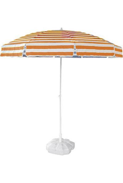 Tevalli 2 metre Plaj Balkon Kahve Bahçe Şemsiyesi + 20lt Bidon