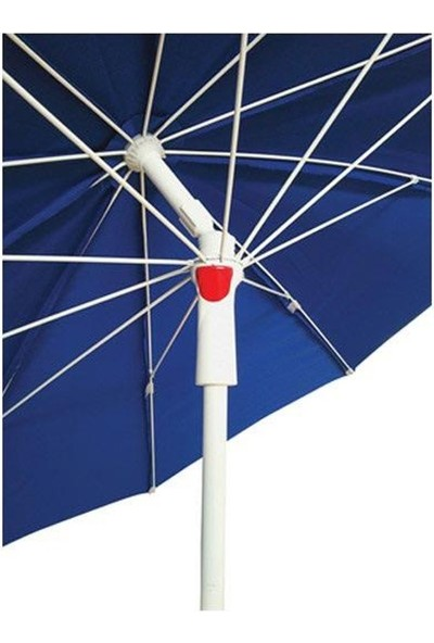 Tevalli 2 metre Plaj Balkon Sarı Bahçe Şemsiyesi + 20lt Bidon