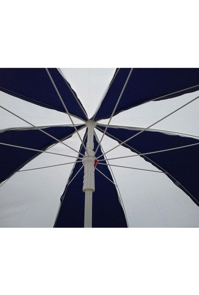 Tevalli 2 metre Plaj Balkon Bahçe Şemsiyesi Polyester - Krem + 20lt Bidon