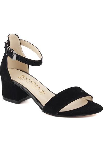 Ayakland Siyah Bayan Süet Sandalet Ayakkabı
