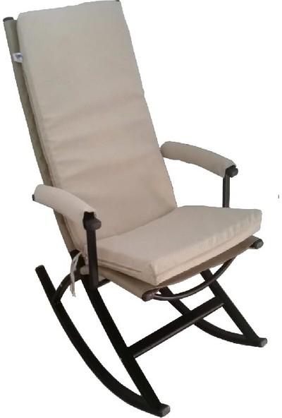 Depolife Sallanır Sandalye Minderli Kolçaklı Sallanabilen Sandalye Berjer Tv Koltuğu