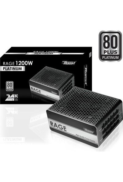 "PowerBoost BST-ATX1200P ""RAGE"" 1200w 80+ PLATINUM Full Modüler 12cm Fanlı ATX Power Supply"