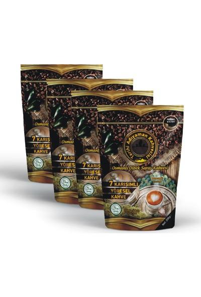 Tarihi Adıyaman Kahvesi Osmanlı Dibek Saray Kahvesi 250 gr (Damla Sakızlı) x 4 Adet