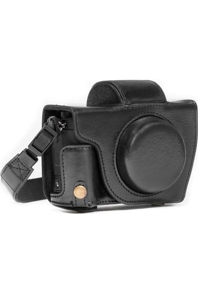 Megagear MG1066 Canon Powershot G5 X Deri Kamera Çantası