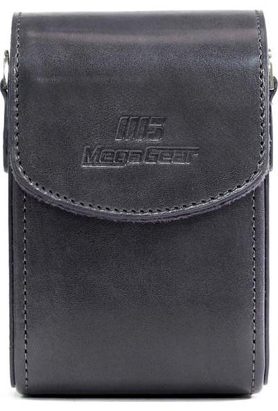 Megagear MG1211 Canon Powershot S120, Sony Cyber-Shot Dsc-Rx100Vı,Deri Dikey Kamera Çantası