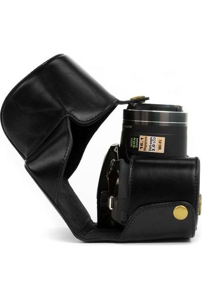 Megagear MG266 Nikon Coolpix P610, P530, P520 Deri Kamera Çantası