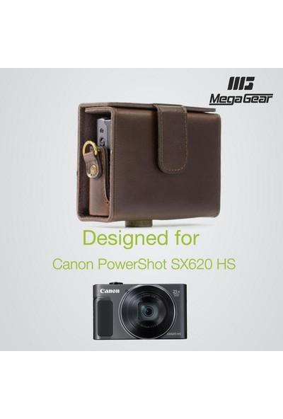 MegaGear Canon Powershot SX620 HS Suni Deri Kamera Çantası