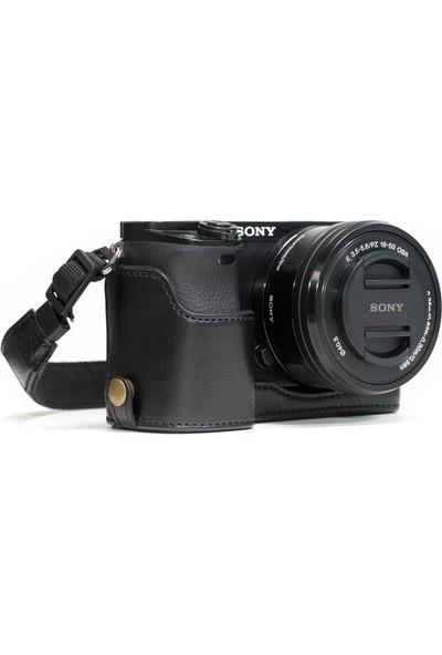 Megagear MG960 Sony Alpha A6300, A6000 Deri Kamera Çantası