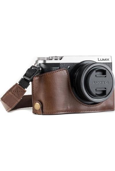 Megagear MG973 Panasonic Lumix Dmc-Gx85, Gx80 Deri Kamera Çantası