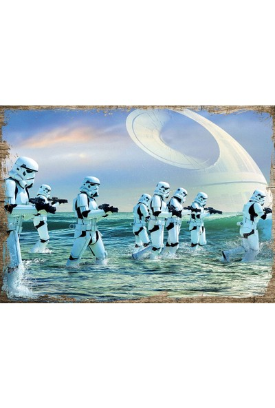 Tablomega Ahşap Tablo Star Wars Yıldız Savaşçıları