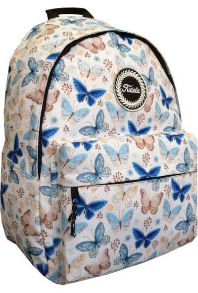 Fudela Outdoor Backpack Sırt Çantası Mavi Kelebekler