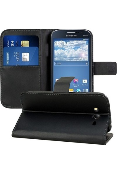 Ehr. Samsung Galaxy J7 2016 Cüzdan Standlı Kapaklı Lüks Kılıf + Ekran Koruyucu Cam