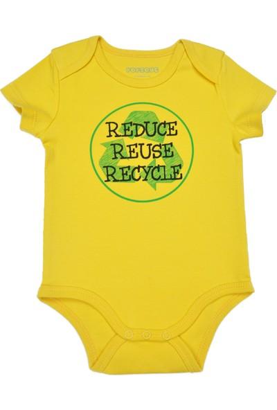 Popique Organics 3R Kısa Kollu Sarı Organik Body