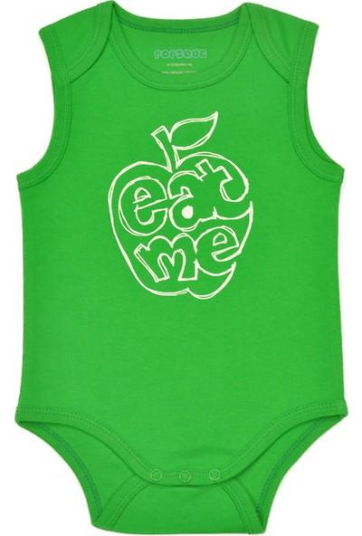 Popique Organics Eat Me Kolsuz Yeşil Organik Body