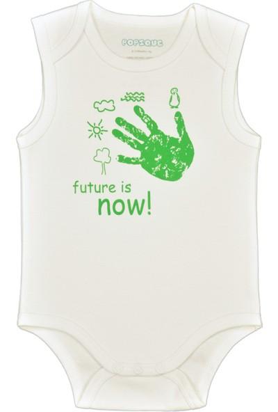 Popique Organics Future Is Now Kolsuz Beyaz - Yeşil Organik Body