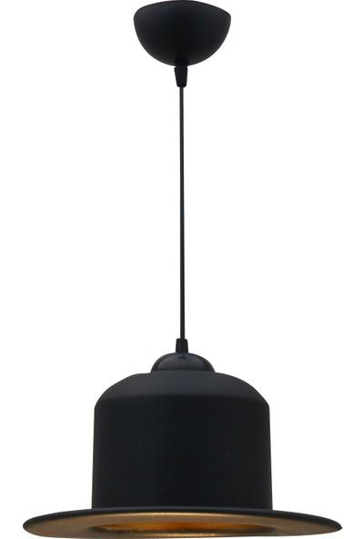 Bamyum Siyah Şapka Sarkıt Avize