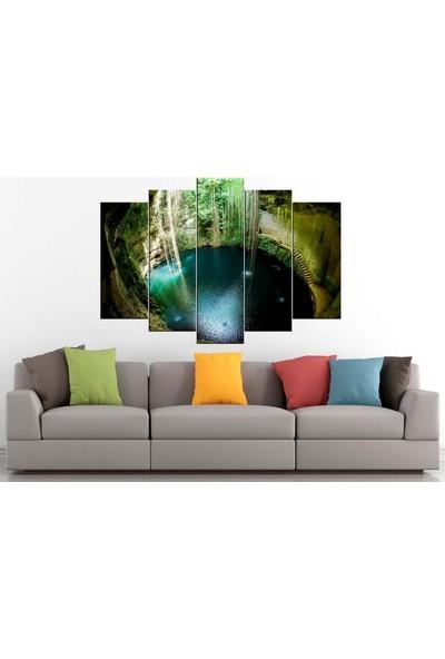 Sibiro Dekoratif Kanvas Tablo Yucatan Göl 80 x 125 cm - Azypl16
