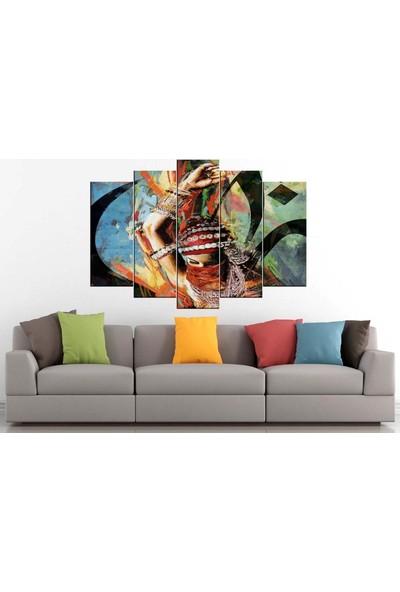Sibiro Dekoratif Yağlı Boya Görünüm Kanvas Tablo Dansöz 80 x 125 cm - Azyrnk18