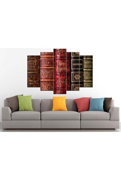 Sibiro Dekoratif Kanvas Tablo Eski Kitaplar 80 x 125 cm - Azyrpt26