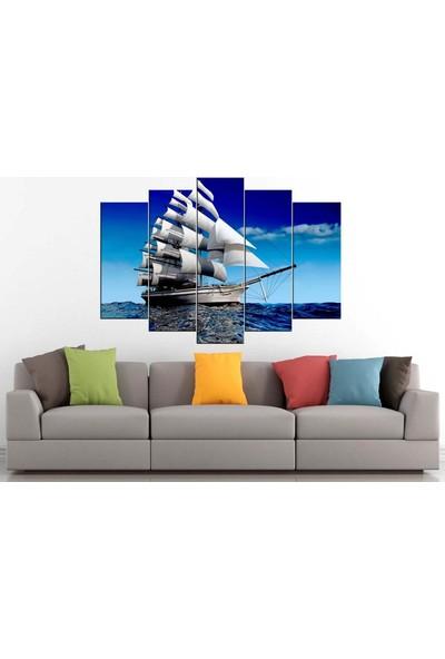 Sibiro Gemi Tekne Yelkenli Konsept Kanvas Tablo 80 x 125 cm - Azytn1