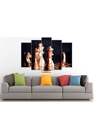Sibiro Satranç Konsept Kanvas Tablo 80 x 125 cm - Azytn22