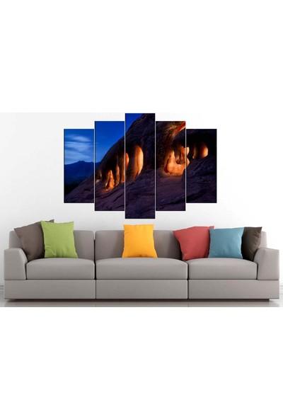 Sibiro Polis Kanvas Tablo Mağra Işıklar 80 x 125 cm - Azyyn-107