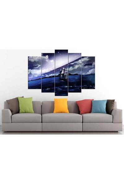 Sibiro Gemi Tekne Yelkenli Konsept Kanvas Tablo 80 x 125 cm - Azyyz14