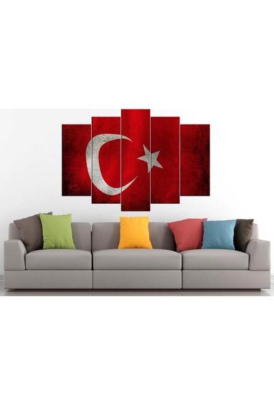 Sibiro Dekoratif Kanvas Tablo Türk Bayrağı 80 x 125 cm - Azyzb23