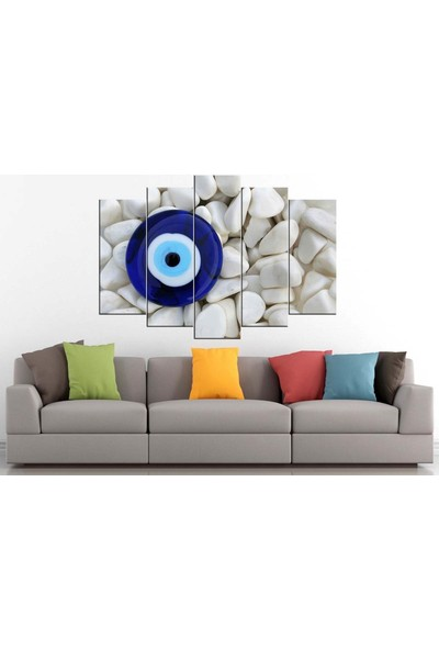 Sibiro Dekoratif Kanvas Tablo Nazar Boncuğu 80 x 125 cm - Azyzz276