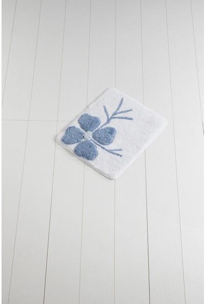 Chilai Home Kırçiçeği Mavi 50 x 60 Cm Banyo Halısı