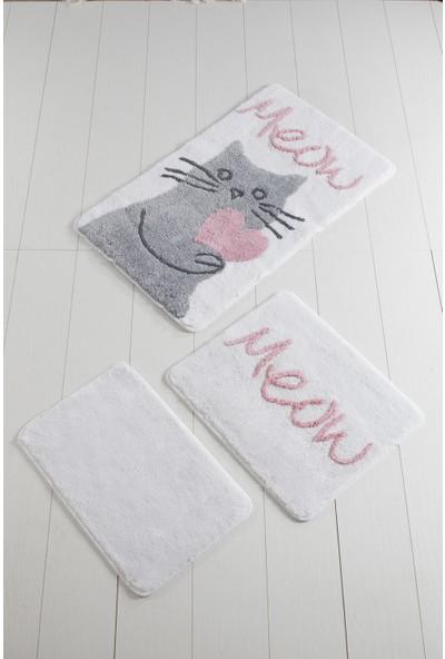 Chilai Home Kedicik Beyaz 3'lü Banyo Takımı Seti