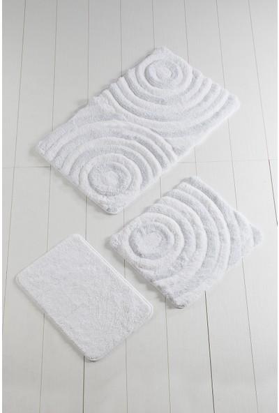 Chilai Home Wave Beyaz 3'lü Banyo Takımı Seti
